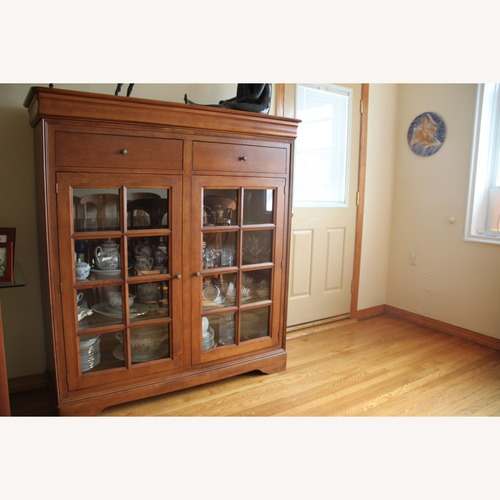 Used Shermag Canada Maple Curio Style 2 door Buffet for sale on AptDeco