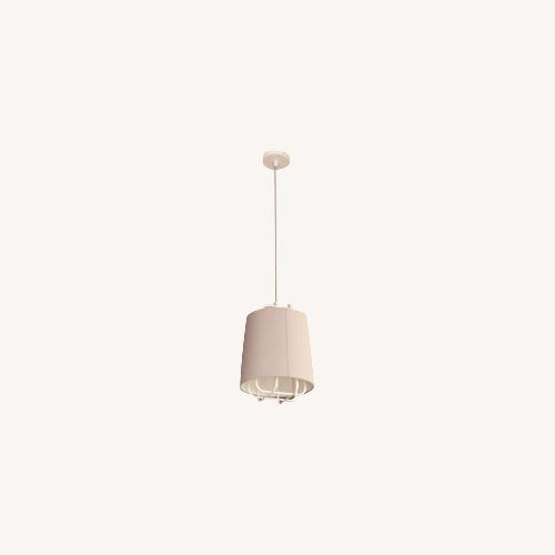 Used Blu Dot Perimeter Small Pendant Light - White/Grey for sale on AptDeco