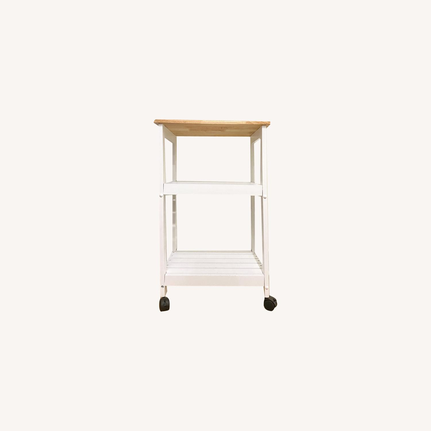 Utility Kitchen Cart/Microwave Stand - image-0