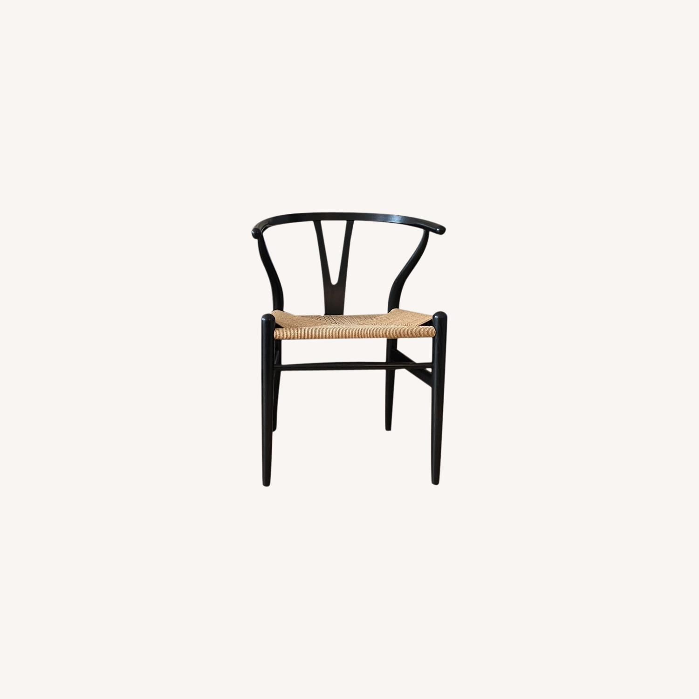 CH24 Black Wishbone Chairs set of 4 - image-0