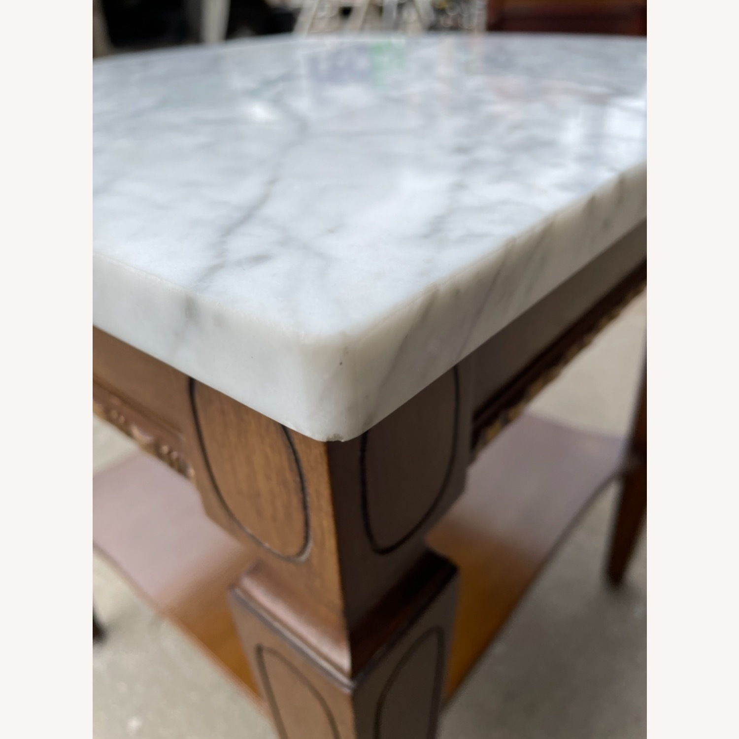 Vintage 1970s Marble Top Side Table - image-4