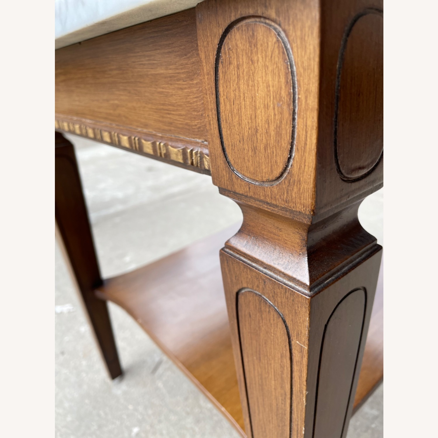Vintage 1970s Marble Top Side Table - image-3
