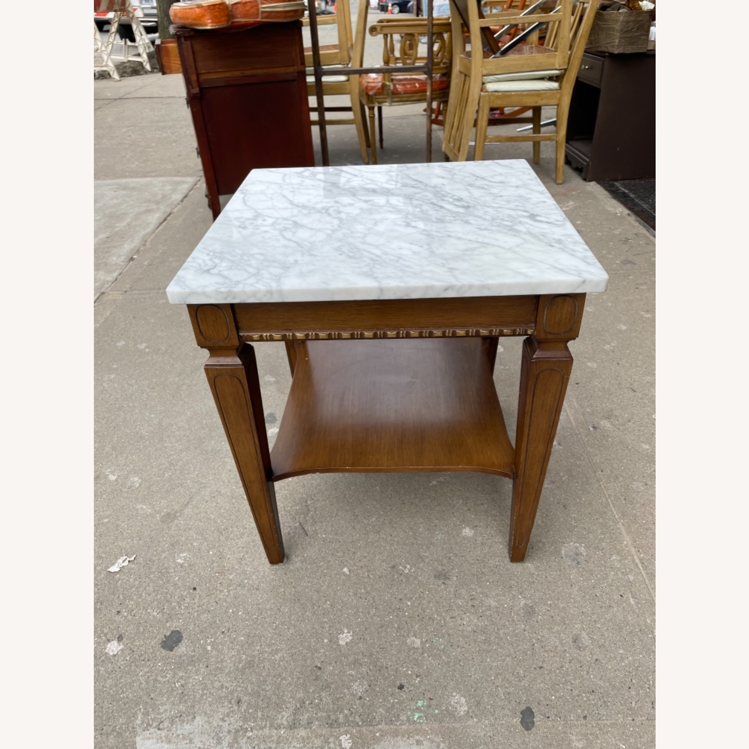 Vintage 1970s Marble Top Side Table - image-13