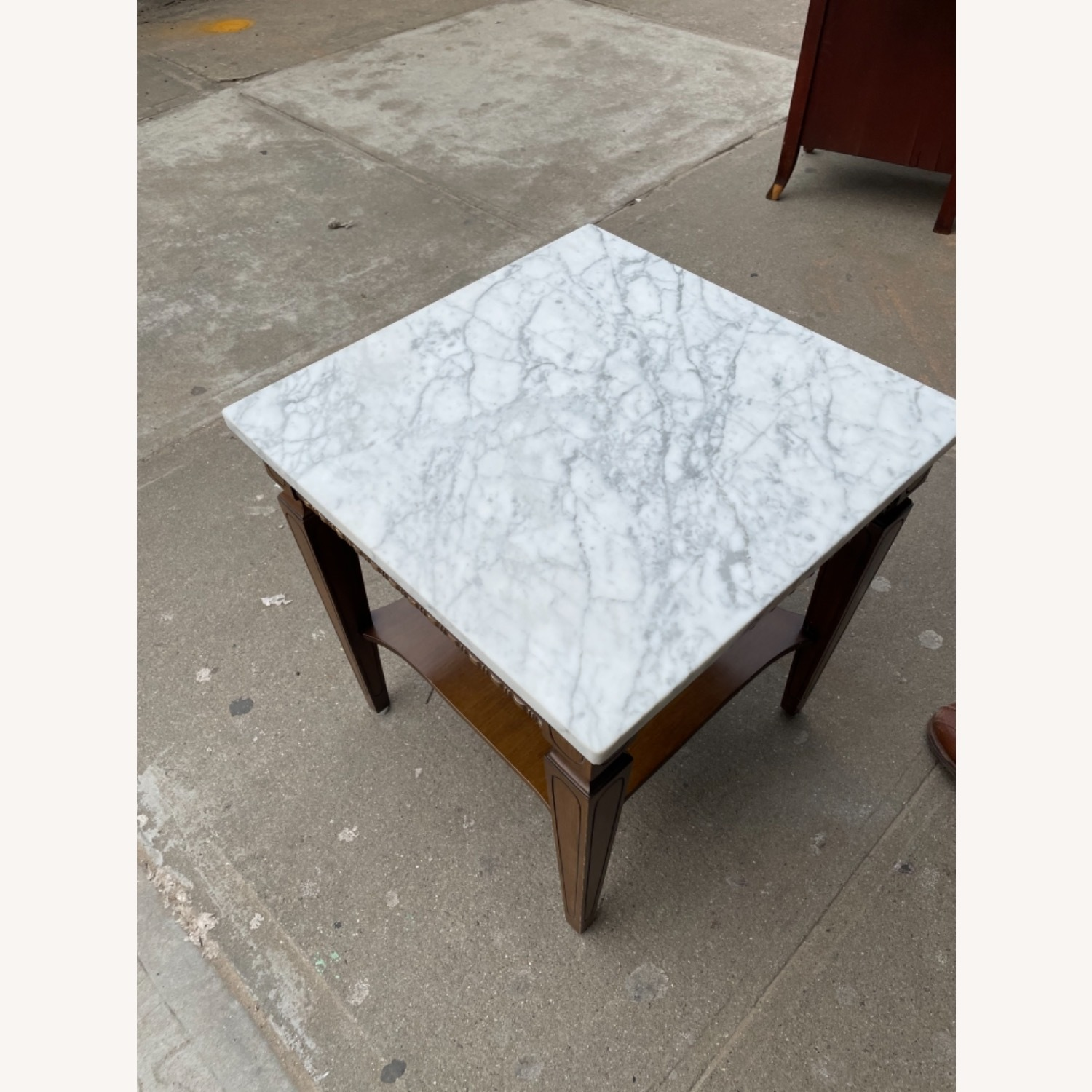 Vintage 1970s Marble Top Side Table - image-7