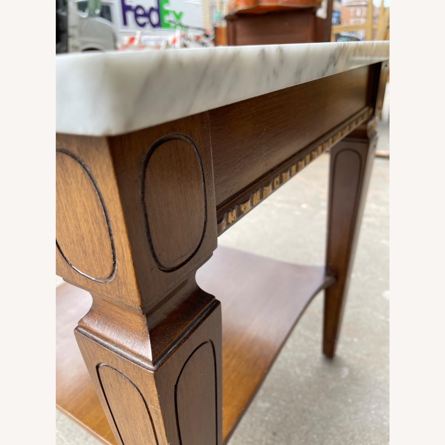 Vintage 1970s Marble Top Side Table - image-5