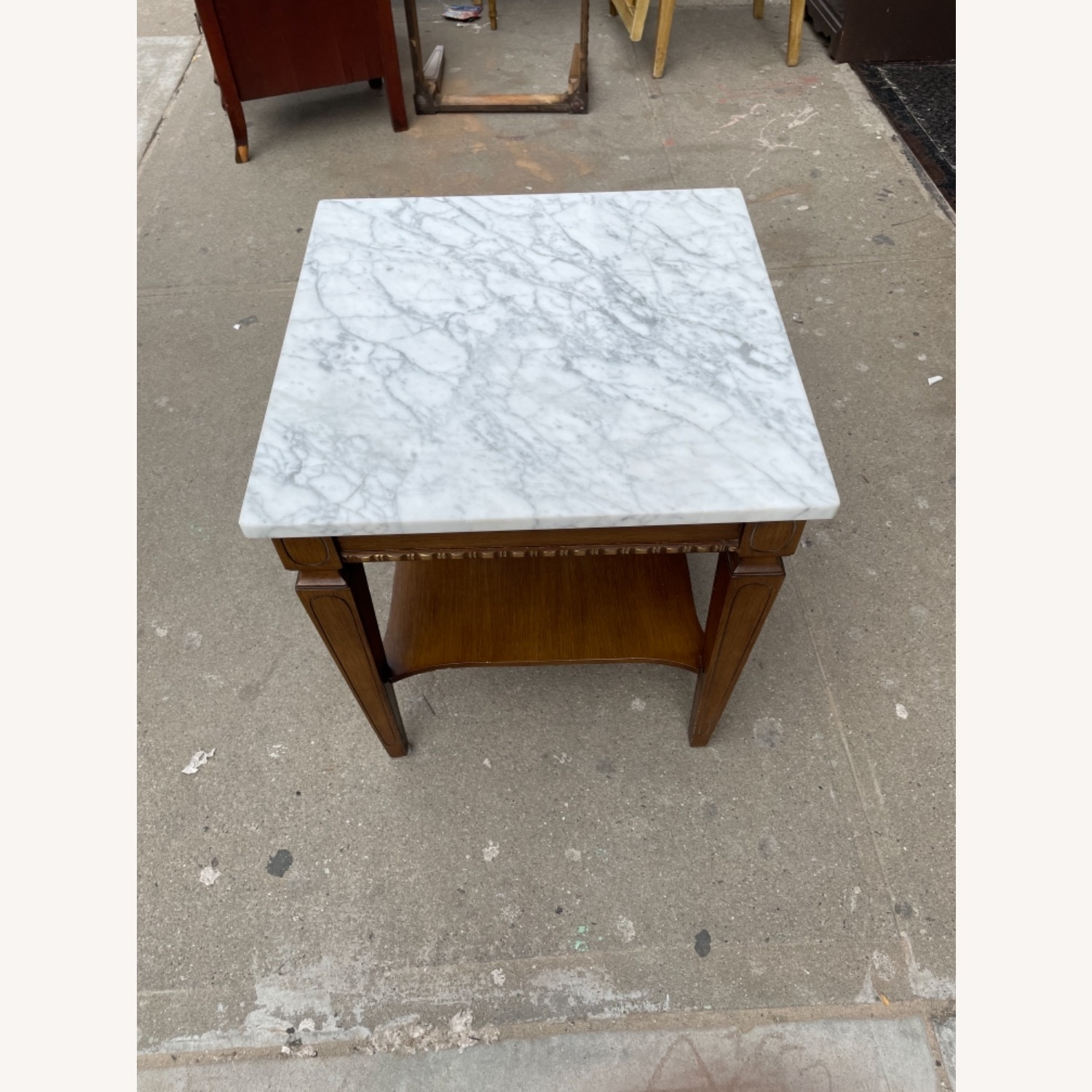 Vintage 1970s Marble Top Side Table - image-11