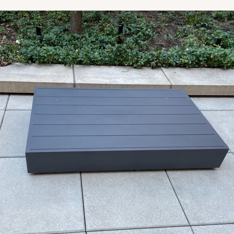 Restoration Hardware Marabella Aluminum Coffee Table - image-2
