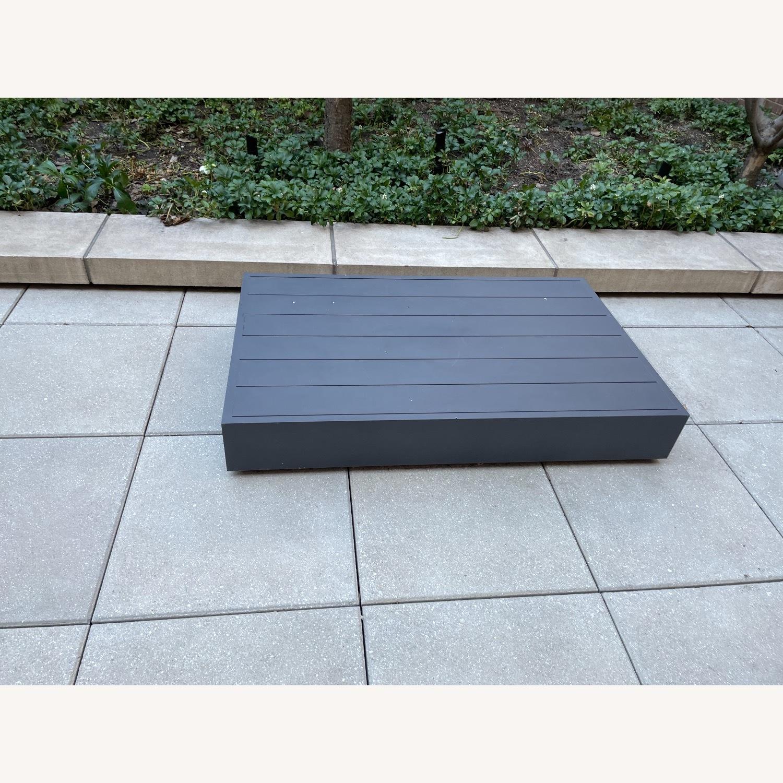 Restoration Hardware Marabella Aluminum Coffee Table - image-1