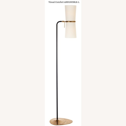 Used Visual Comfort AERIN Clarkson Floor Lamp Bl/Brass for sale on AptDeco