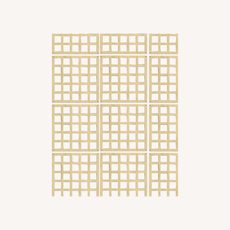 Laser-Cut Wall Hanging Room Divider Partition Set - image-0