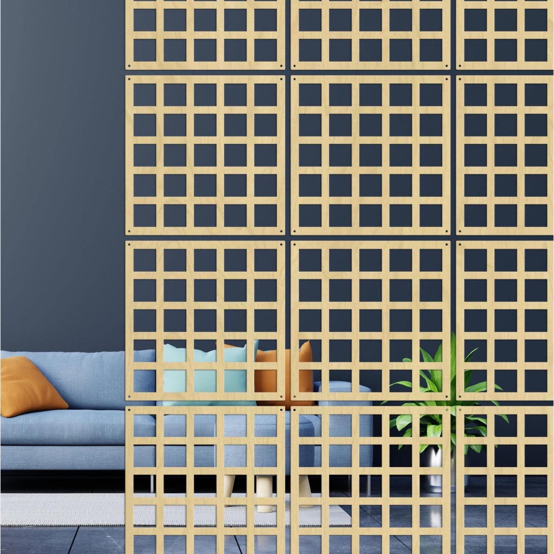 Laser-Cut Wall Hanging Room Divider Partition Set - image-1