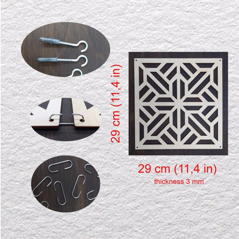 Laser-Cut Wall Hanging Room Divider Partition Set - image-2