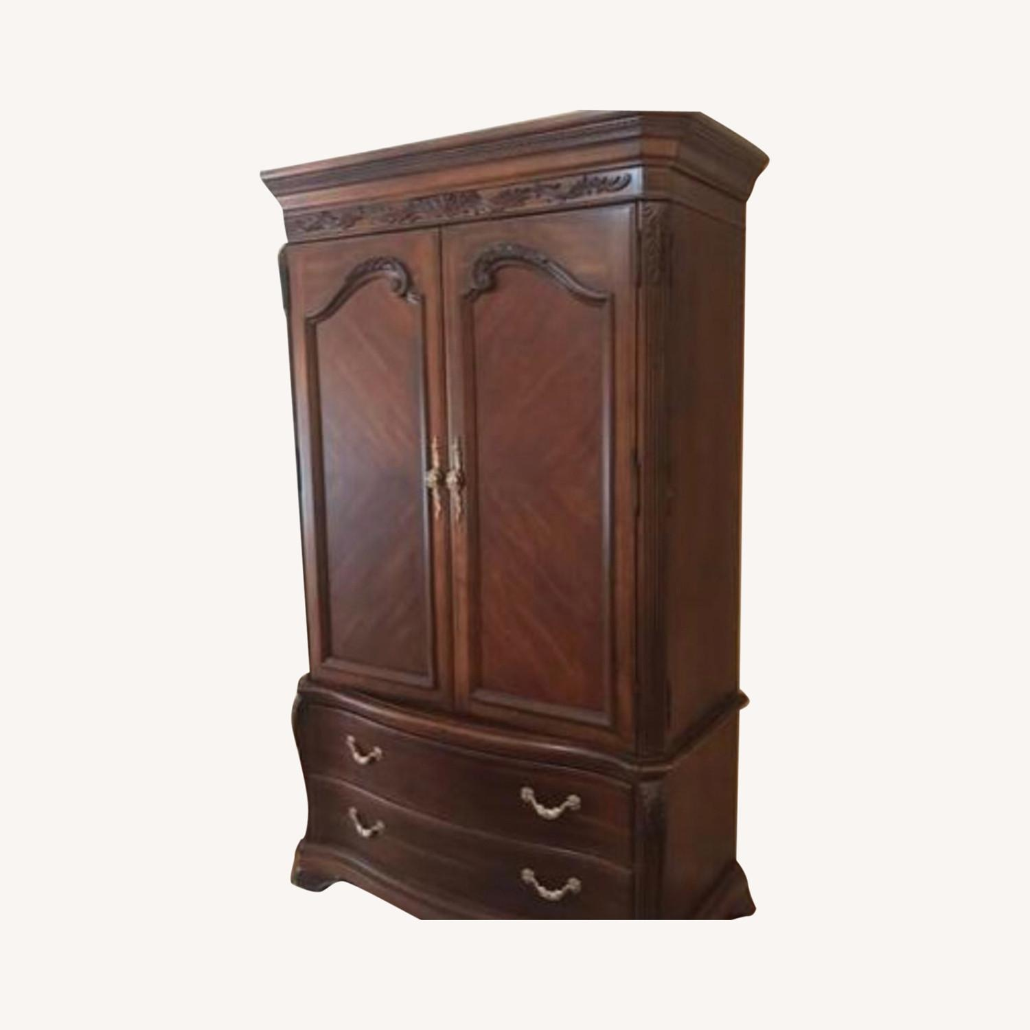 Bob Mackie collection - Solid Mahogany Armoire - image-0