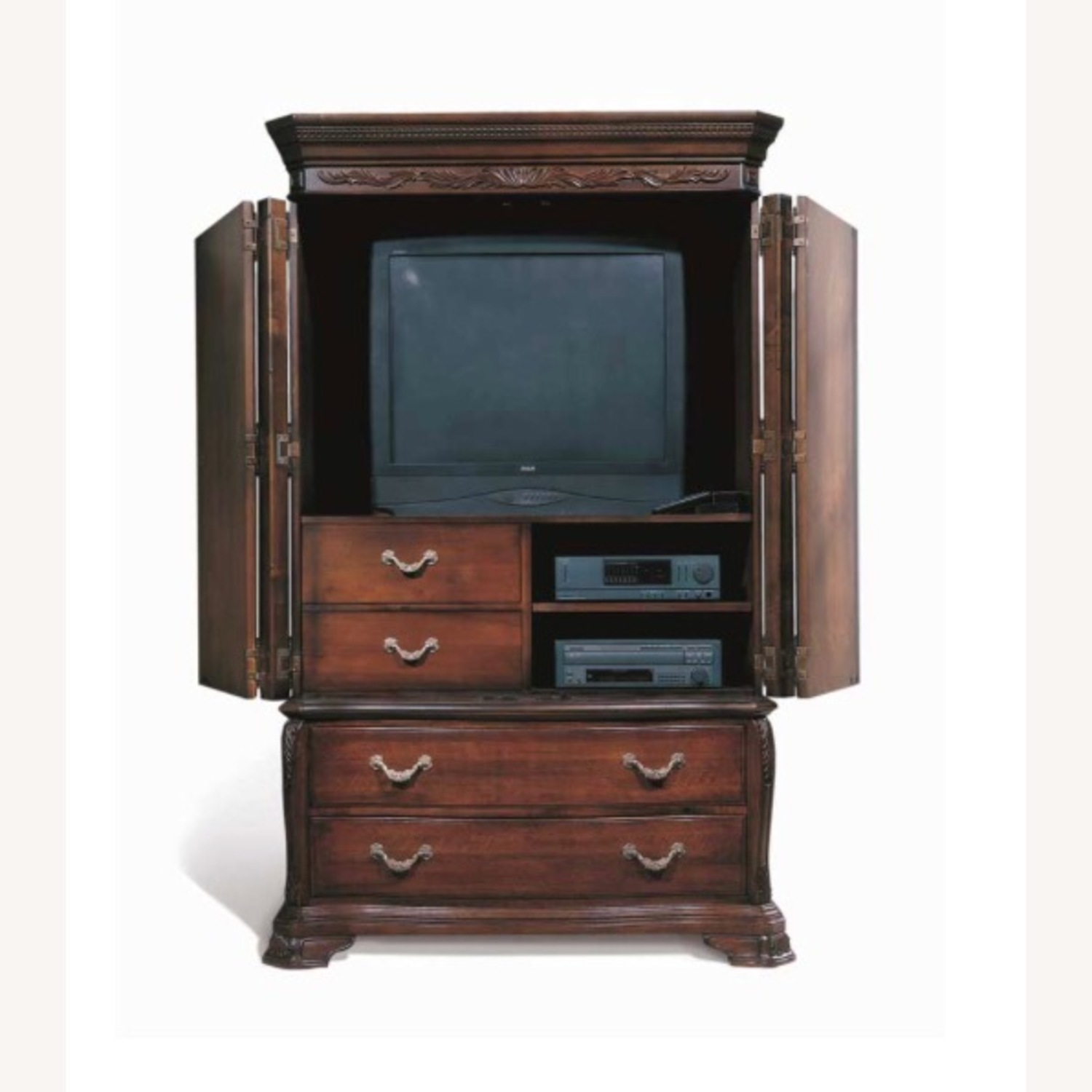 Bob Mackie collection - Solid Mahogany Armoire - image-2