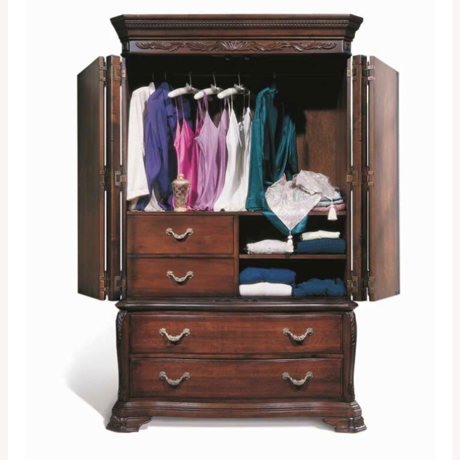 Bob Mackie collection - Solid Mahogany Armoire - image-3