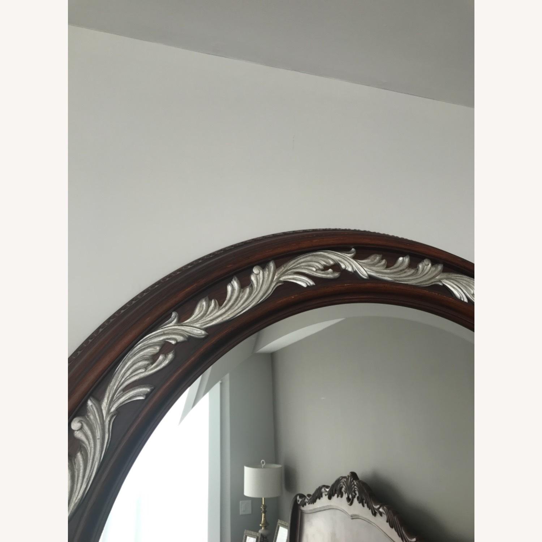 Carved Solid Mahogany Beveled Mirror - image-6