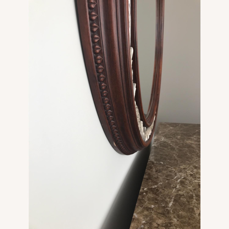Carved Solid Mahogany Beveled Mirror - image-7