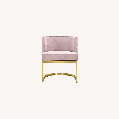 Used Home Meridian Pink Velvet Dining Chairs for sale on AptDeco