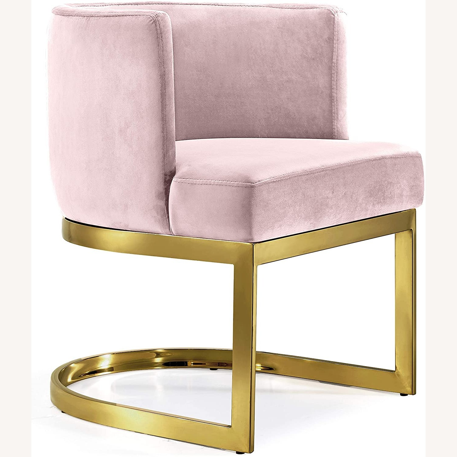 Home Meridian Pink Velvet Dining Chairs - image-2