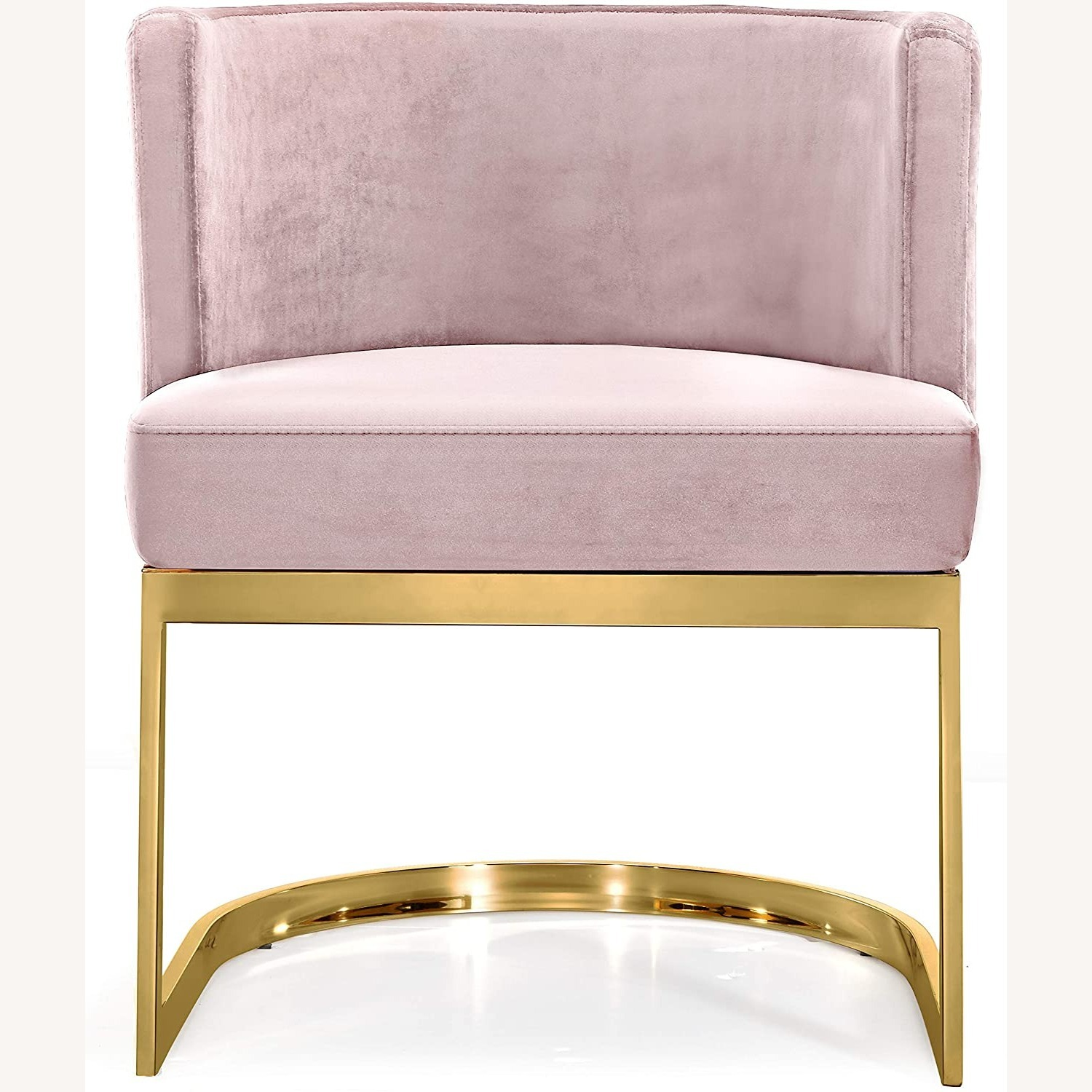 Home Meridian Pink Velvet Dining Chairs - image-1