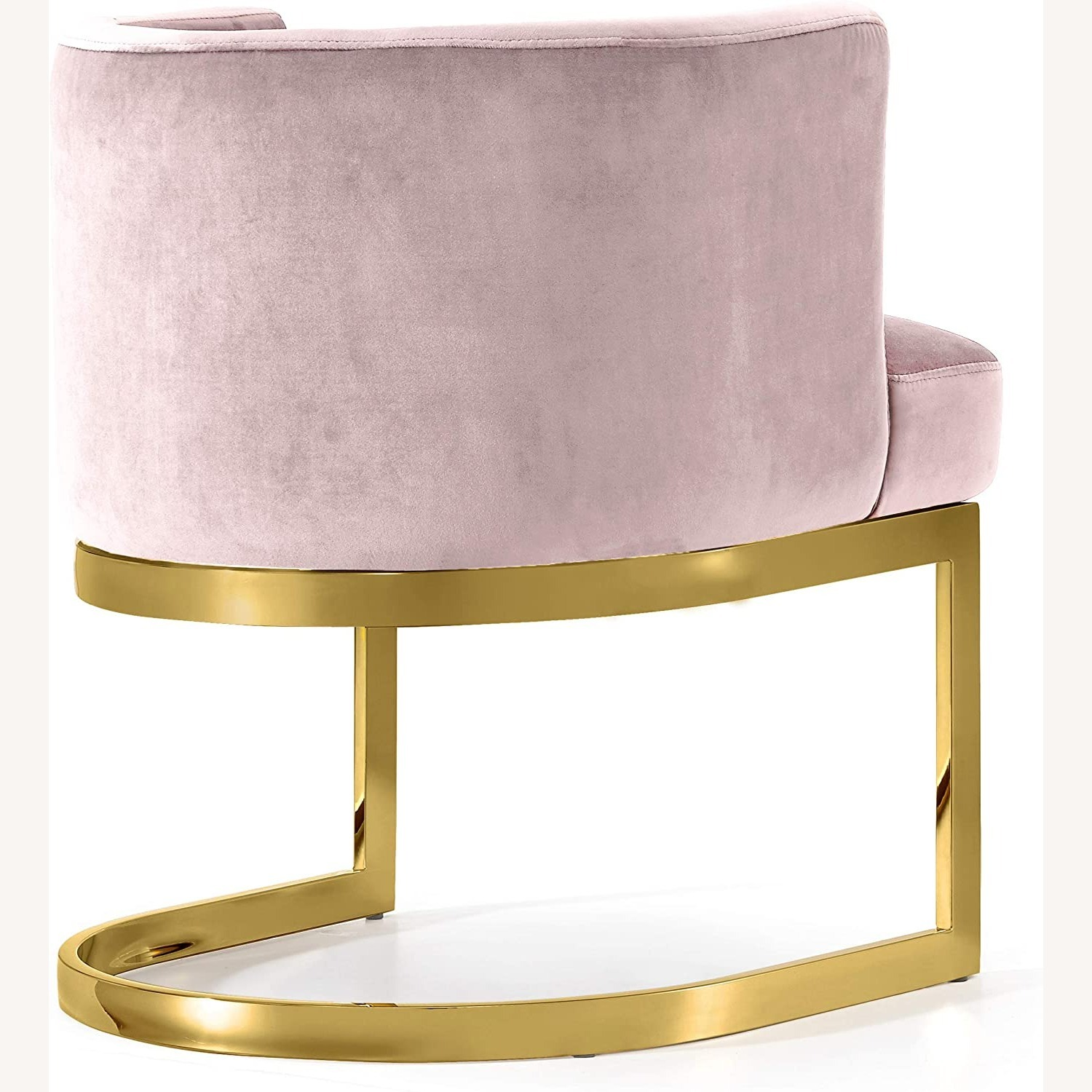 Home Meridian Pink Velvet Dining Chairs - image-4