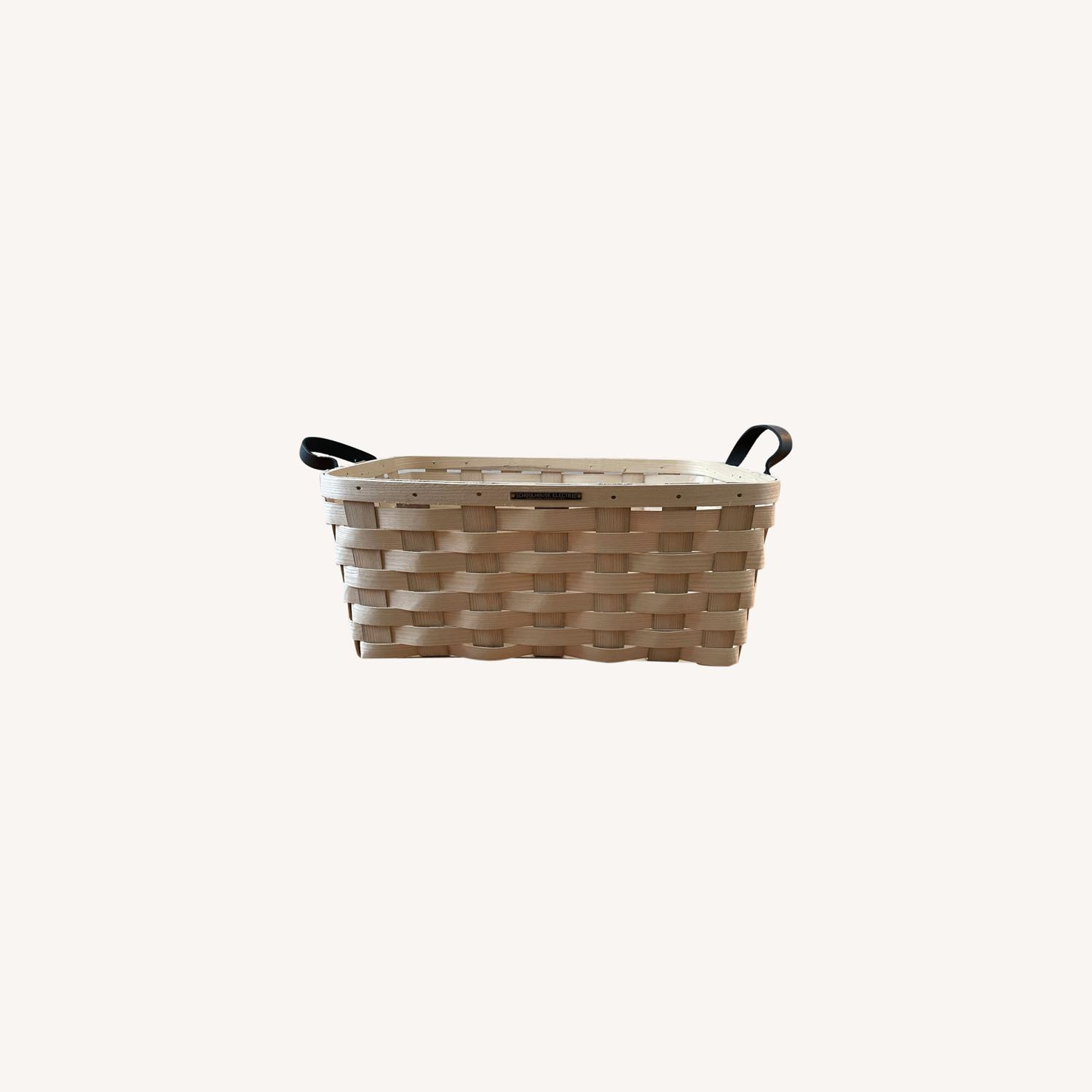 Schoolhouse Electric Lg Rectangle White Ash Basket - image-0