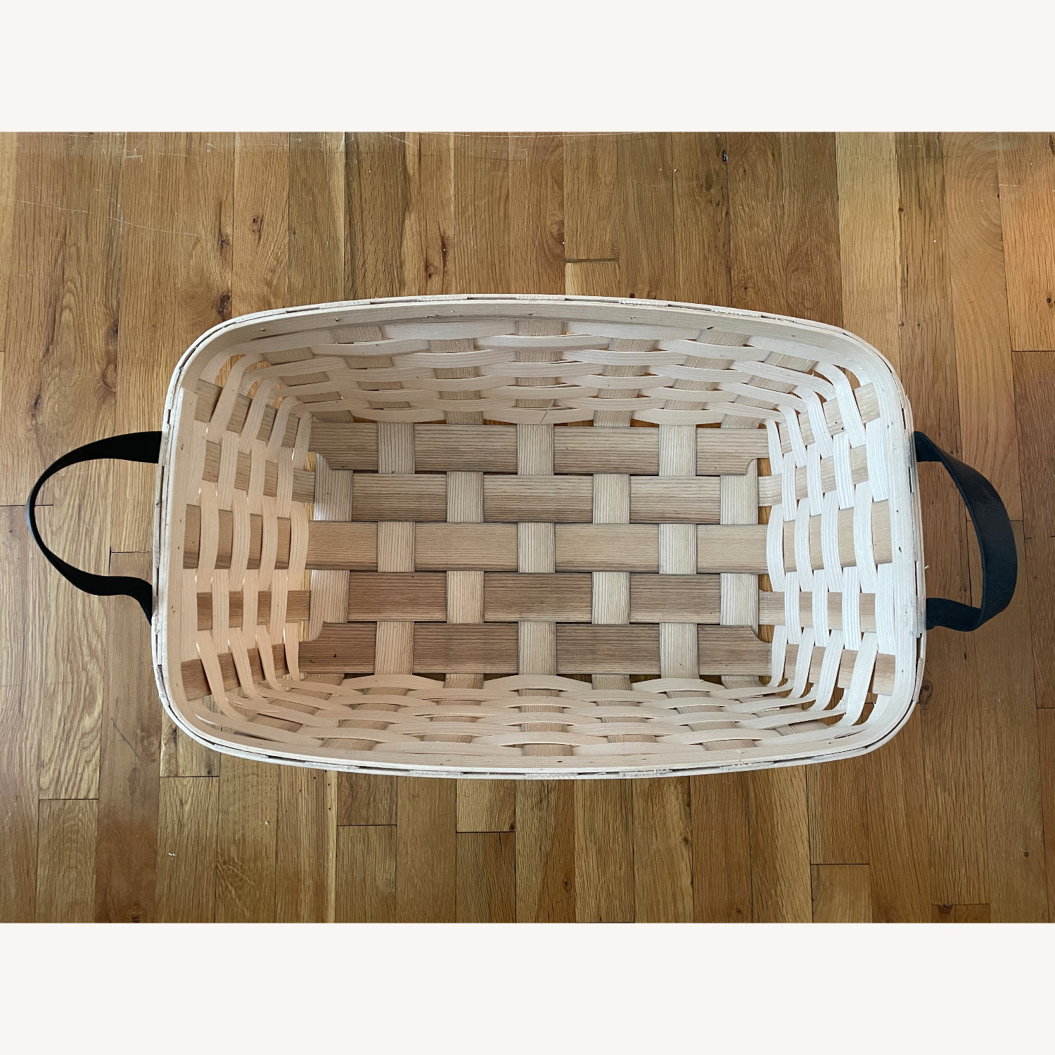 Schoolhouse Electric Lg Rectangle White Ash Basket - image-4