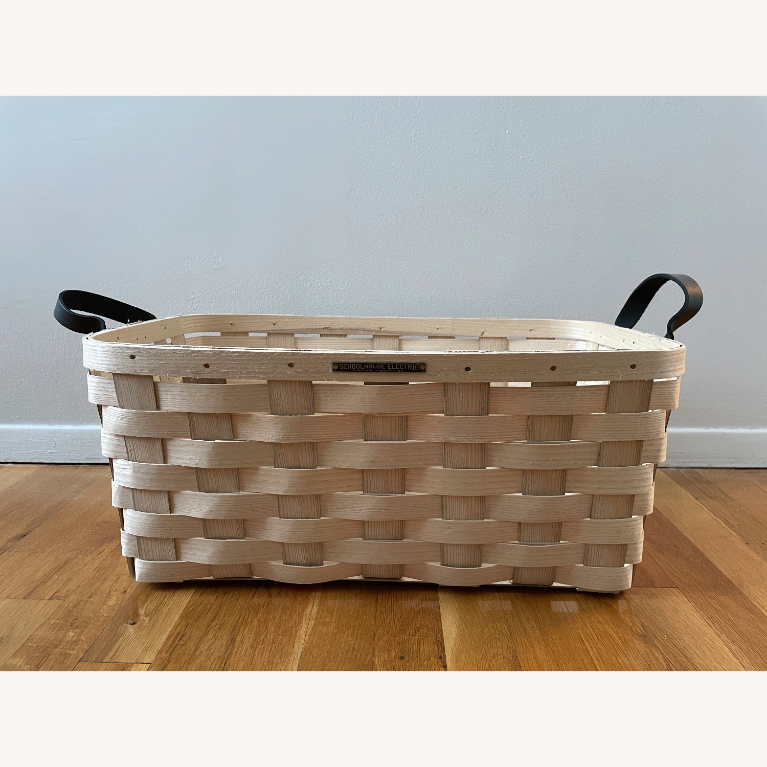 Schoolhouse Electric Lg Rectangle White Ash Basket - image-1