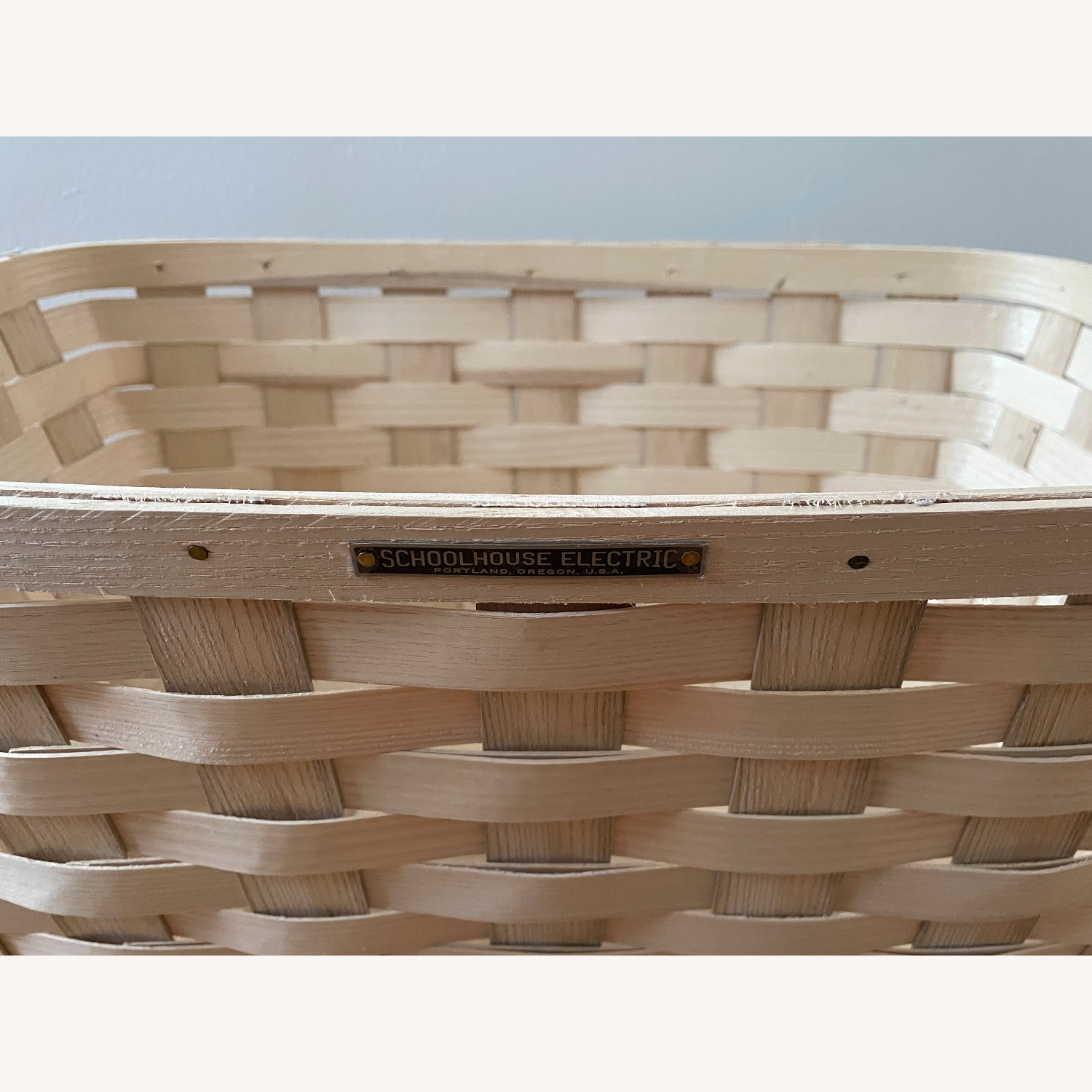 Schoolhouse Electric Lg Rectangle White Ash Basket - image-6