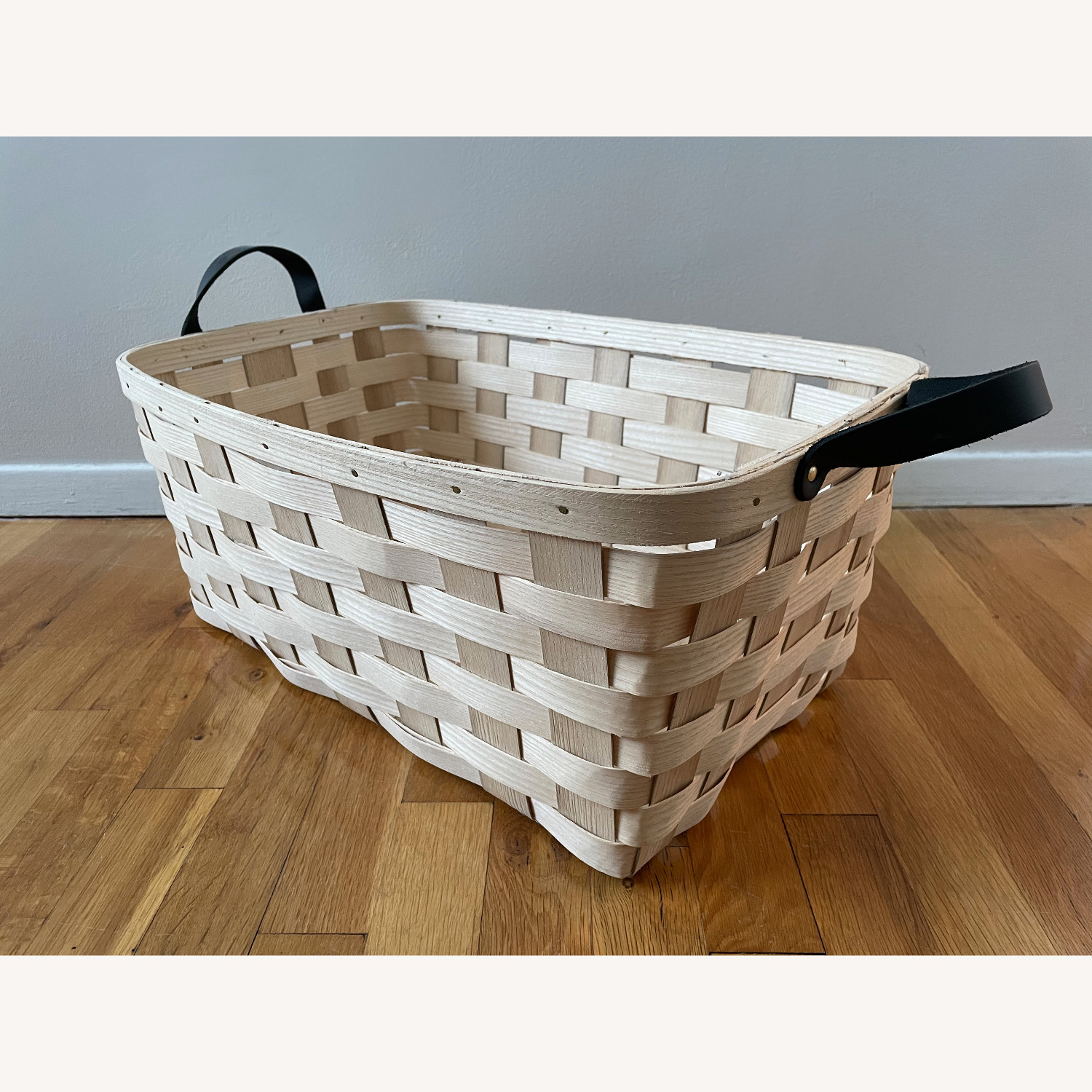 Schoolhouse Electric Lg Rectangle White Ash Basket - image-3