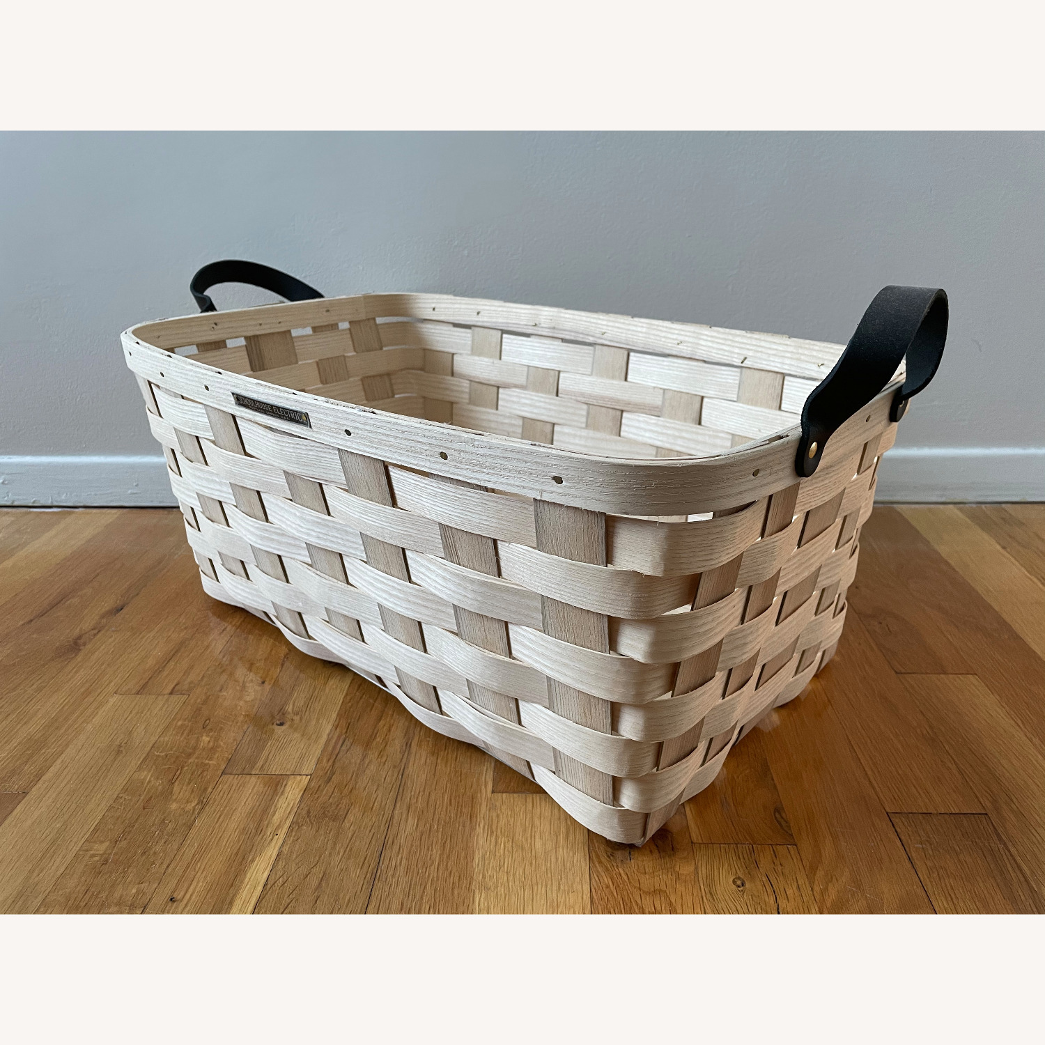 Schoolhouse Electric Lg Rectangle White Ash Basket - image-2
