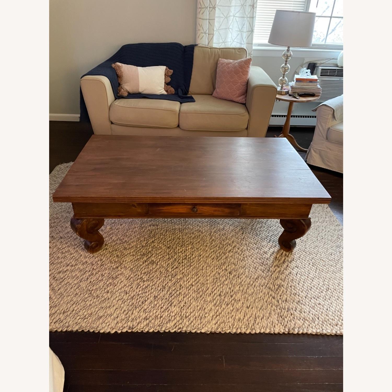 Antique Mahogany Coffee Table - image-1