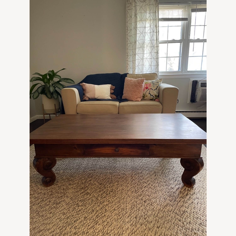 Antique Mahogany Coffee Table - image-5