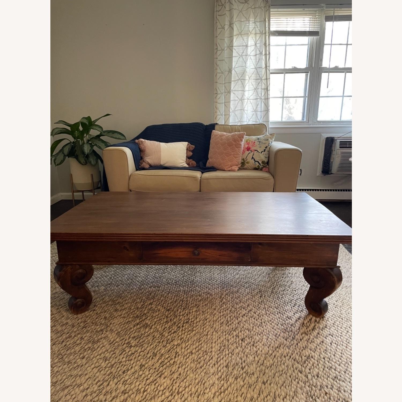 Antique Mahogany Coffee Table - image-2