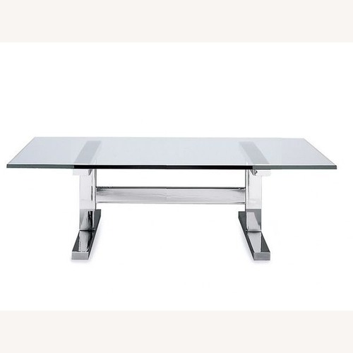 Used Williams-Sonoma Home Glass and Metal Coffee Table for sale on AptDeco