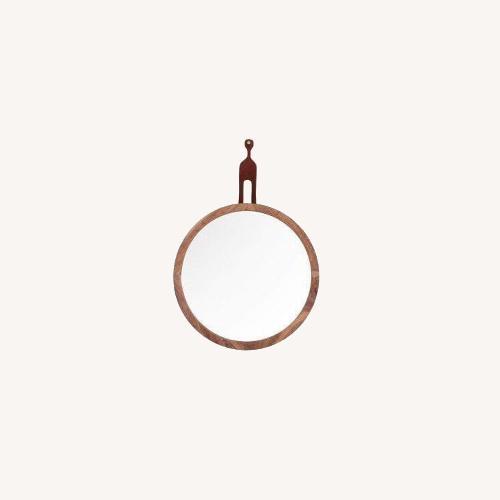 Used Organic Modernism Mira Round Mirror for sale on AptDeco