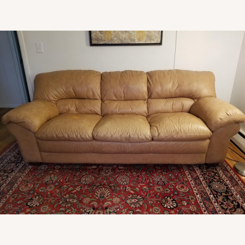 Italiana Divani Leather Sofa - image-1