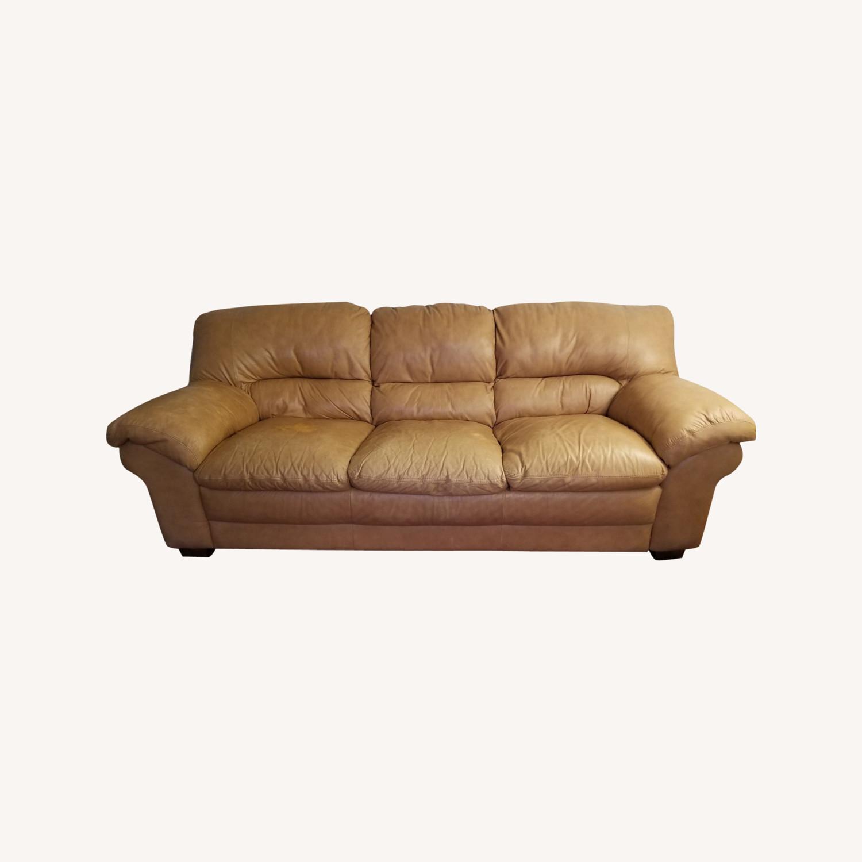 Italiana Divani Leather Sofa - image-0