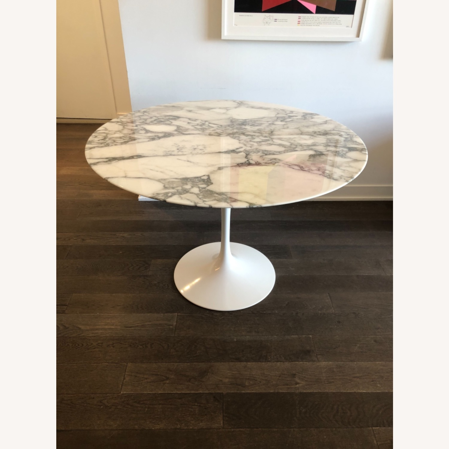 Eero Saarinen Dining Table (Arabescato Marble) - image-1