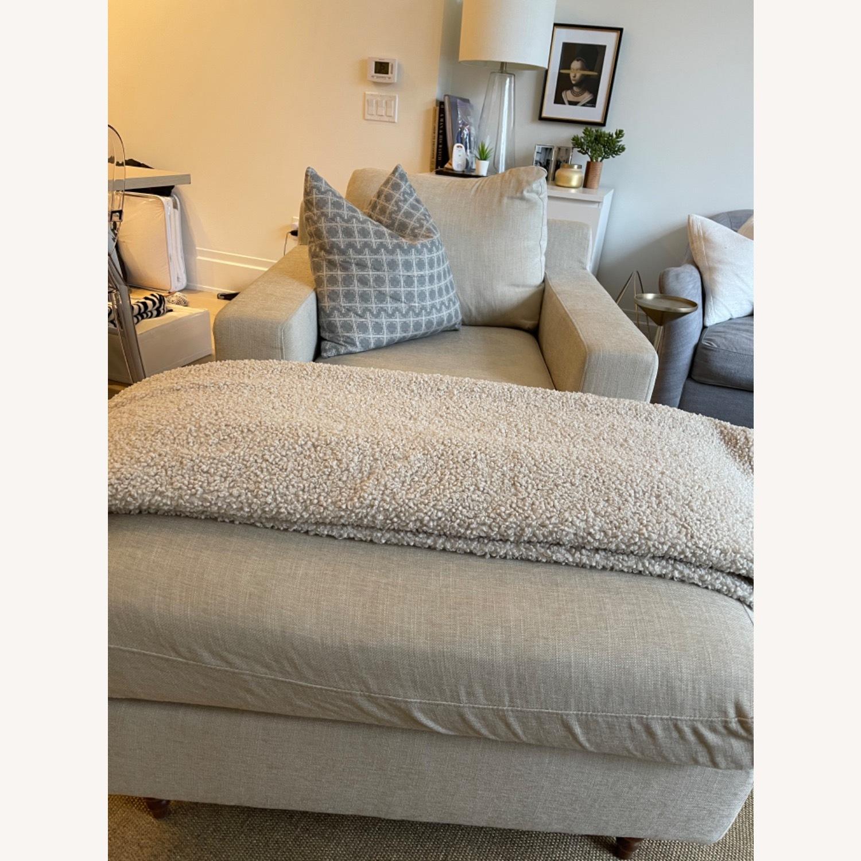 Interior Define Sloan Chaise - Sand fabric - image-2