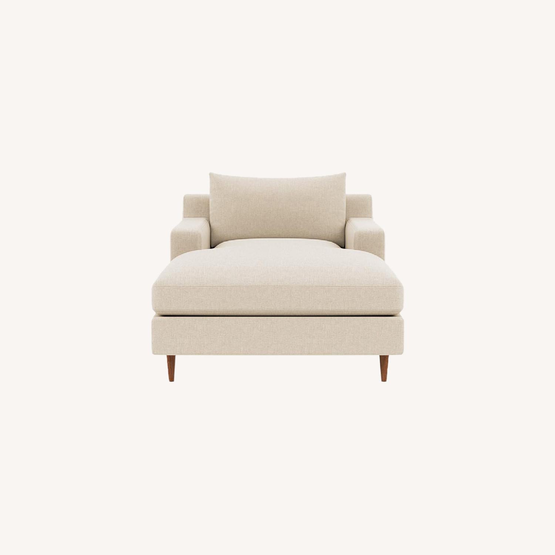 Interior Define Sloan Chaise - Sand fabric - image-0