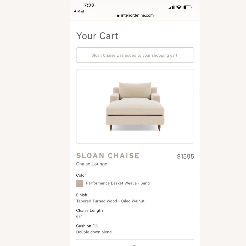 Interior Define Sloan Chaise - Sand fabric - image-3