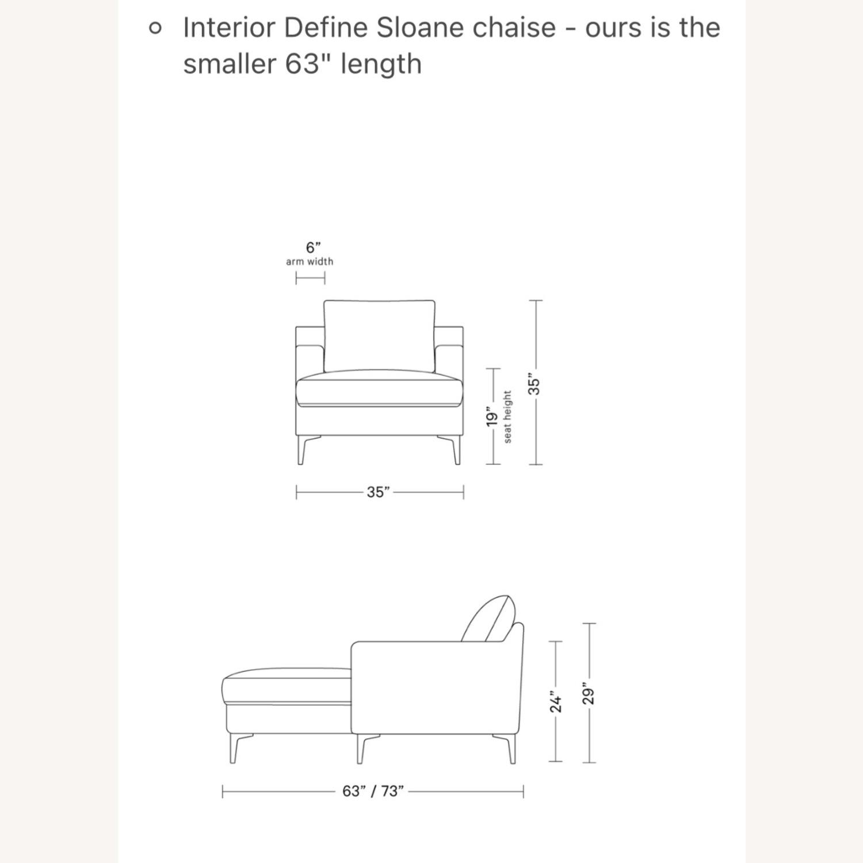 Interior Define Sloan Chaise - Sand fabric - image-1