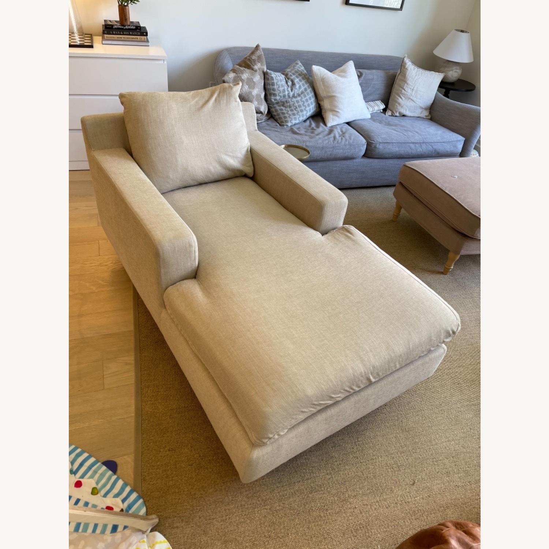 Interior Define Sloan Chaise - Sand fabric - image-5