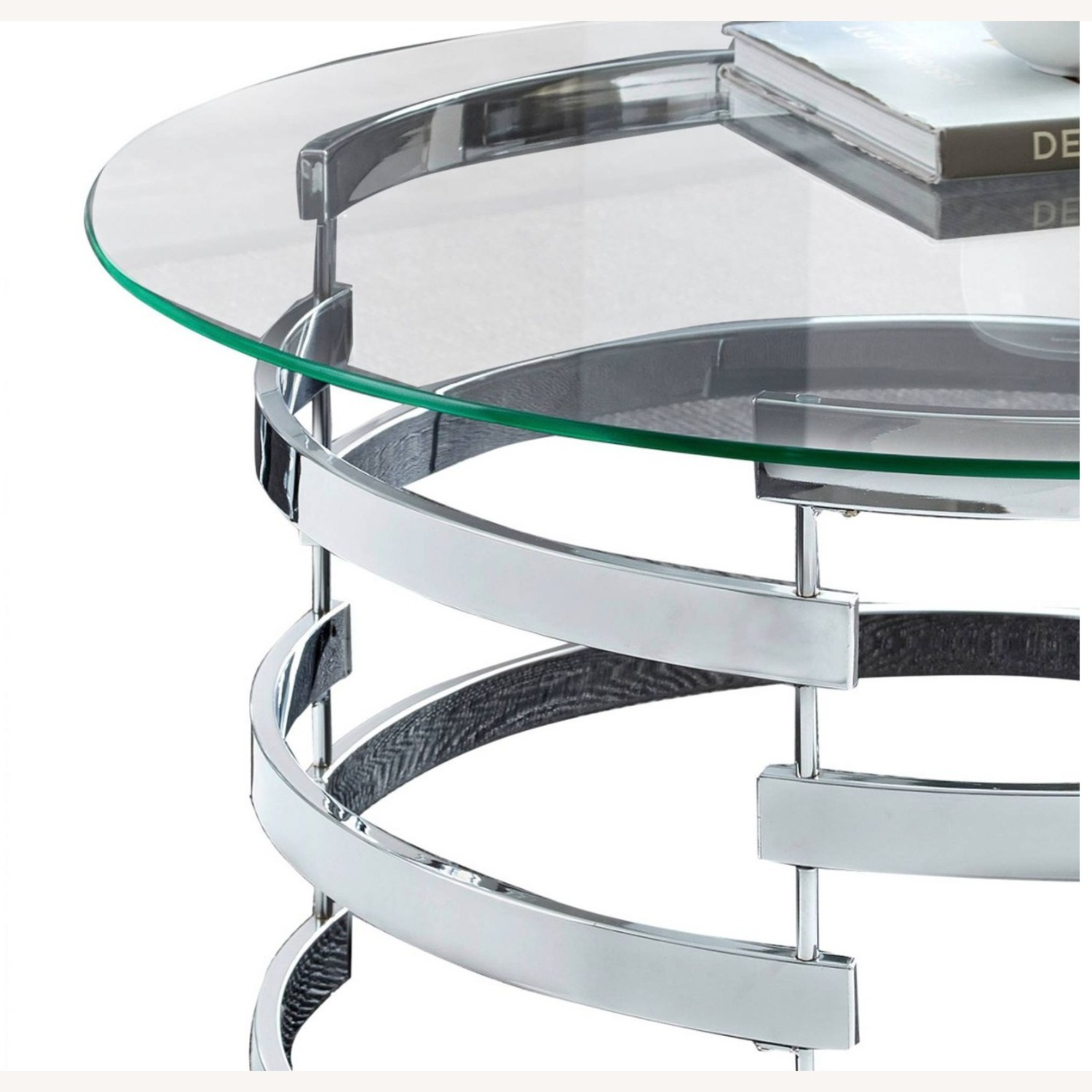 Steve Silver Co. Glass and Chrome Coffee Table - image-2