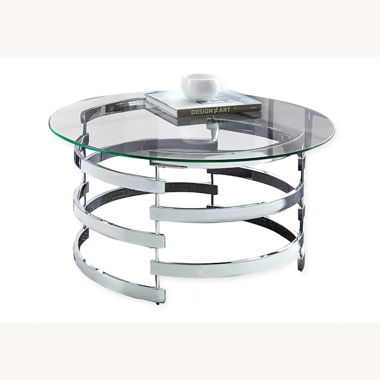 Steve Silver Co. Glass and Chrome Coffee Table - image-1