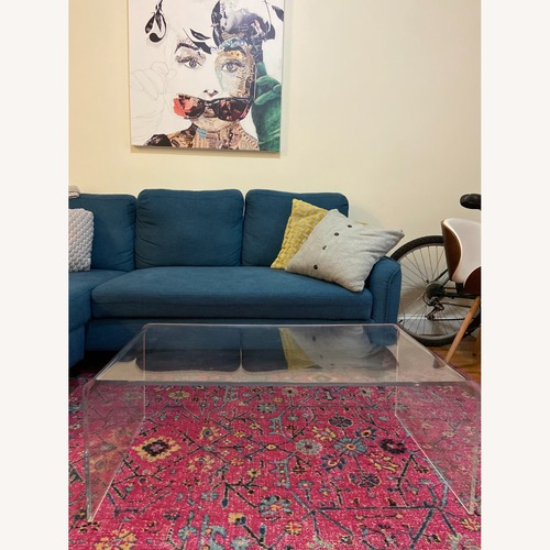 Used Hayneedle Acrylic Coffee Table for sale on AptDeco