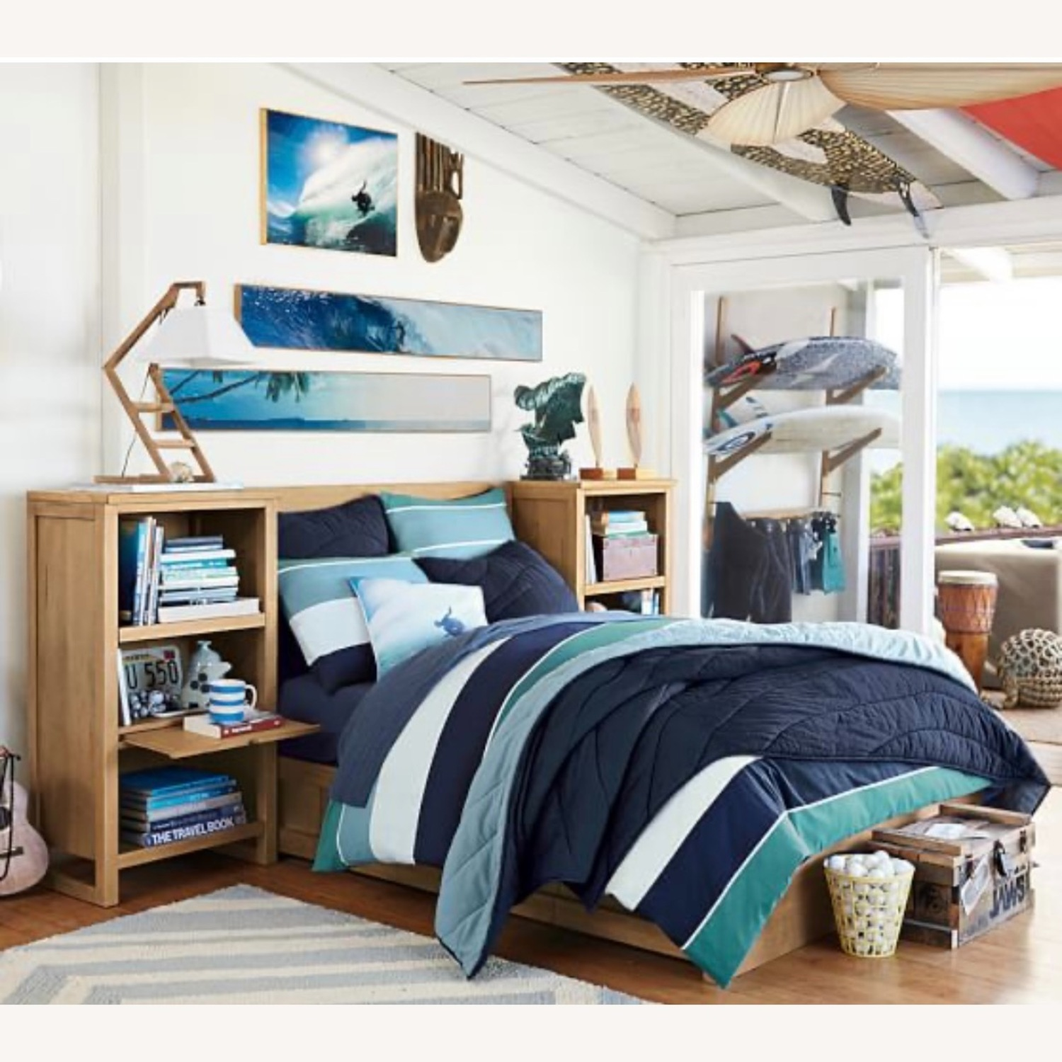 Pottery Barn Full Size Dover Storage Bed - image-4