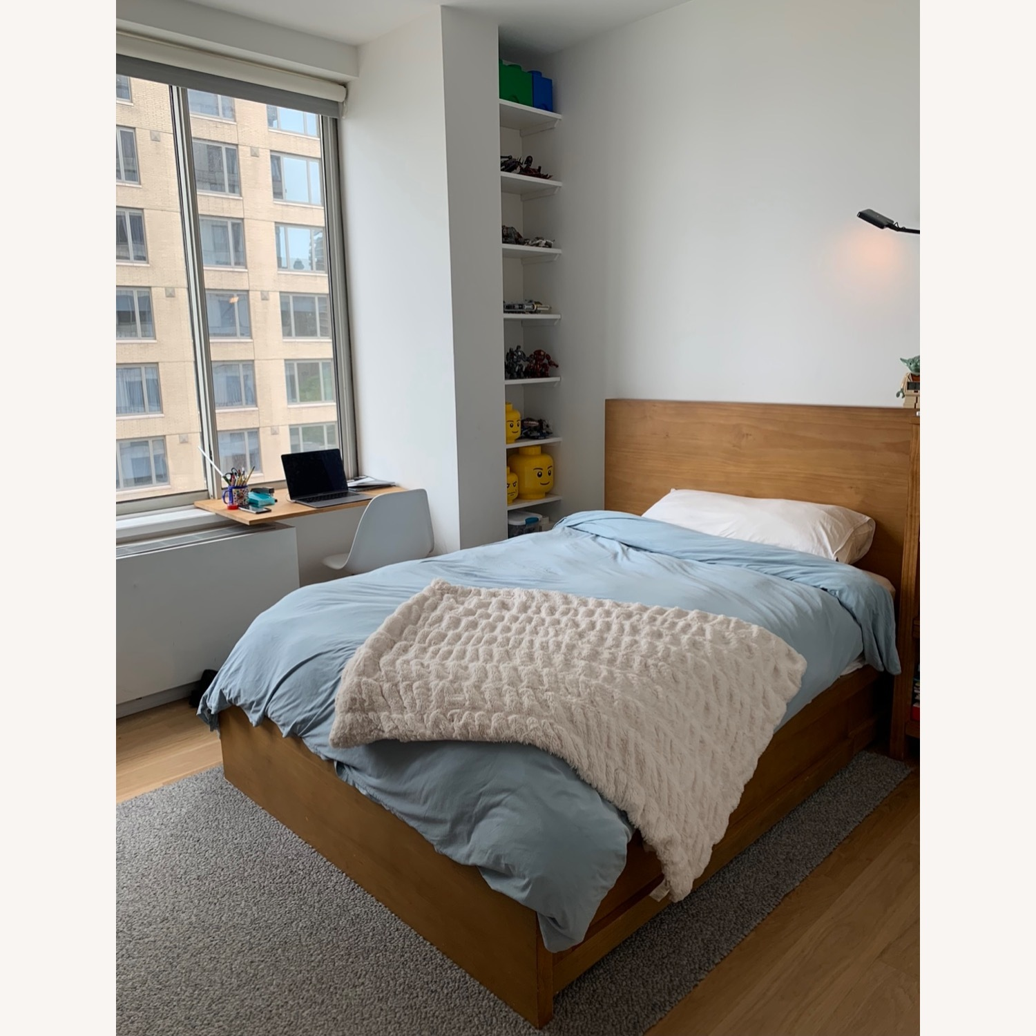Pottery Barn Full Size Dover Storage Bed - image-5