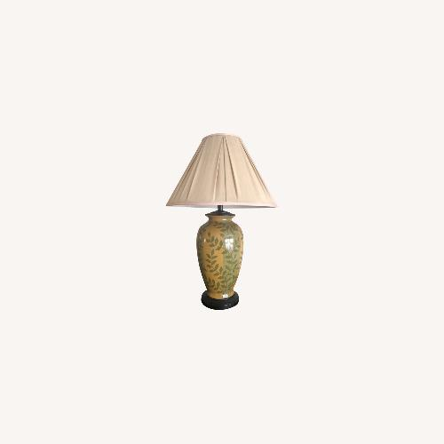 Used Lamps Plus Yellow & Green Table Lamp for sale on AptDeco